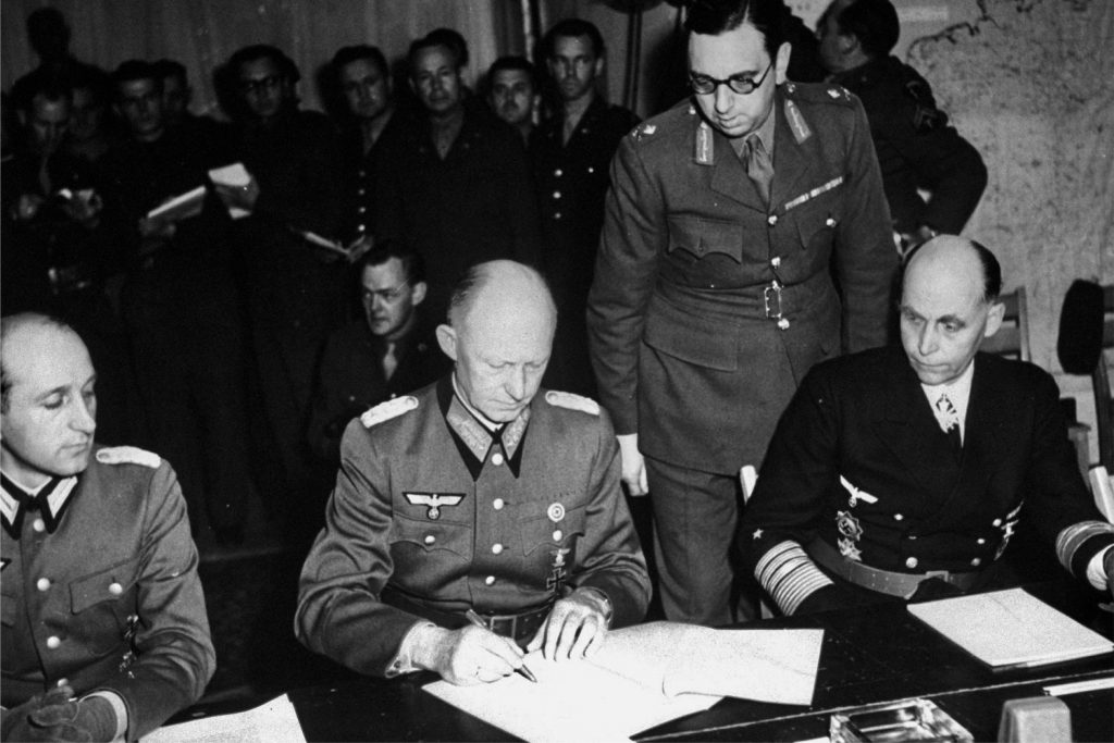 The surrender of nazi Germany